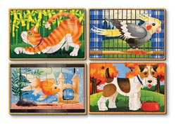 Pets Puzzles in a Box Other Animals Wooden Jigsaw Puzzle