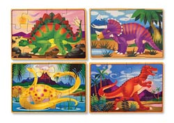 Dinosaurs Puzzles in a Box Dinosaurs Wooden Jigsaw Puzzle