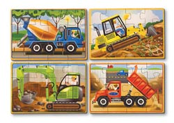 Construction Puzzles in a Box Construction Wooden Jigsaw Puzzle