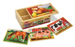 Farm Animals Puzzles in a Box Farm Animals Wooden Jigsaw Puzzle