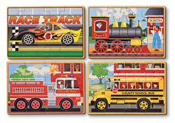 Vehicle Puzzles in a Box Vehicles Wooden Jigsaw Puzzle