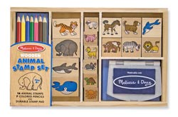 Animal Stamp Set Other Animals Wooden