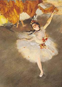 Ballerina Danseus sur la scene Fine Art