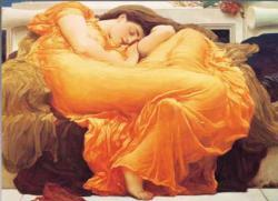 Flaming June Pre-Raphaelite Art