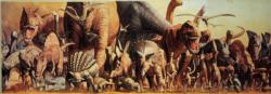 The Dinosaurs Collage Panoramic Puzzle