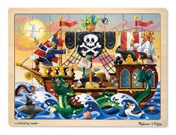 Pirate Adventure Pirates Tray Puzzle