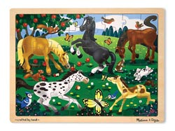 Frolicking Horses Jigsaw Lions Tray Puzzle