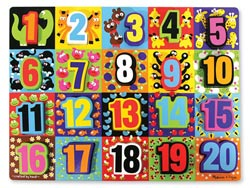 Jumbo Numbers Educational Jumbo / Chunky / Peg Puzzle