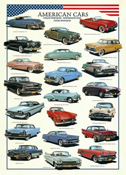 American Cars Collage Jigsaw Puzzle