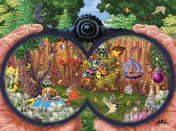 Bird Watching Garden Jigsaw Puzzle