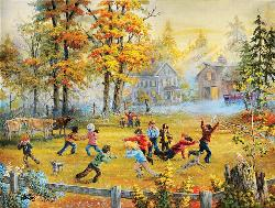 Farmland Football Sports Jigsaw Puzzle
