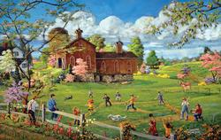 A Baseball Time of Year Spring Jigsaw Puzzle