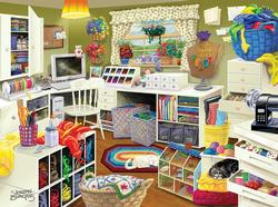 Grandma's Craft Room Everyday Objects Jigsaw Puzzle