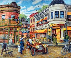 Dorothy's Busy Intersection Street Scene Jigsaw Puzzle