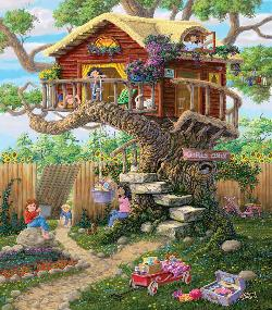 Girl's Clubhouse Outdoors Jigsaw Puzzle