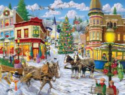 Agnes' Corner Shop Snow Jigsaw Puzzle