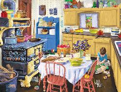 Nana's Kitchen Domestic Scene Jigsaw Puzzle