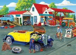 Somerset Service Station Nostalgic / Retro Jigsaw Puzzle