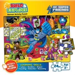 Trouble in the Batcave  (Build & Explore) Super-heroes Jigsaw Puzzle