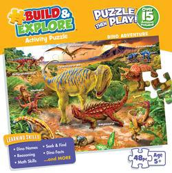 Dino Adventure (Build and Explore) Math Jigsaw Puzzle