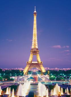 Paris - Eiffel Tower Fountains Eiffel Tower Jigsaw Puzzle