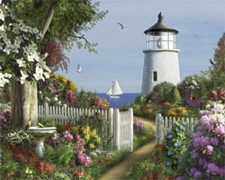 To The Lighthouse Seascape / Coastal Living Jigsaw Puzzle