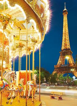 Le Carousel, Paris Eiffel Tower Jigsaw Puzzle