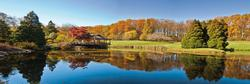 Fall Reflections in a Pond Photography Panoramic