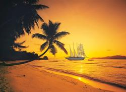 Seychelles Sunset Sunrise / Sunset Jigsaw Puzzle