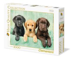 Three Labs Baby Animals Jigsaw Puzzle