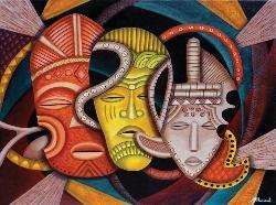 Society Masks Cultural Art Jigsaw Puzzle