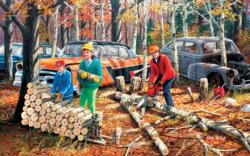 Fall Chores Family Fun Large Piece
