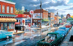Reflections of Main Street Nostalgic / Retro Jigsaw Puzzle