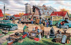 Country Auction Americana Jigsaw Puzzle