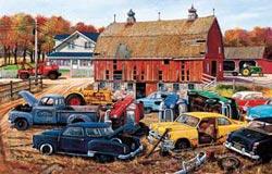 Barnyard Gems Cars Jigsaw Puzzle