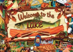 Welcome to the Lake Collage Jigsaw Puzzle