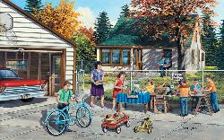 Backyard Sale People Jigsaw Puzzle