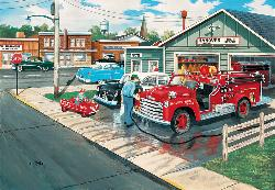 A Little Boy's Dream Vehicles Jigsaw Puzzle