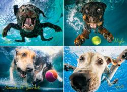 Underwater Dogs Photography Jigsaw Puzzle