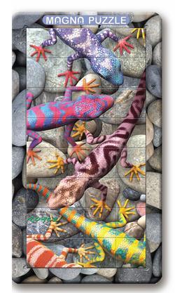 Geckos Reptiles / Amphibians Lenticular Puzzle