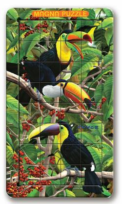 3D Lenticular - Toucan Jungle Animals Lenticular Puzzle