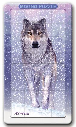 3D Lenticular - Wolf Snow Lenticular