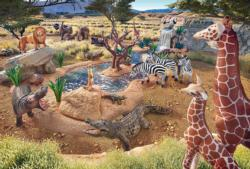 At The Watering Hole Africa Jigsaw Puzzle
