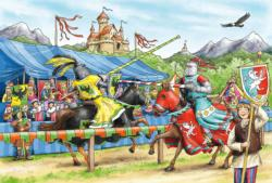 Jousting Knight Fantasy Large Piece