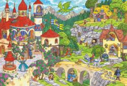 A fairytale kingdom Dragons Children's Puzzles