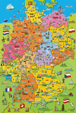 Cartoon Map Of Germany Germany Jigsaw Puzzle