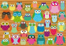 Owl Collage Collage Jigsaw Puzzle