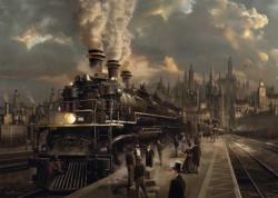 Locomotive Cities Jigsaw Puzzle