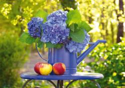 Watering Can With Hortensia Flowers Jigsaw Puzzle