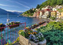 The Shores Of Lake Como Seascape / Coastal Living Jigsaw Puzzle